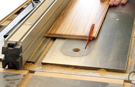 Table Saw to Hexagon into Hardwood Floor