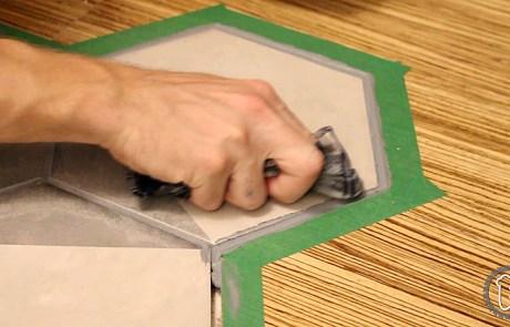 Applying caulking to perimeter seam