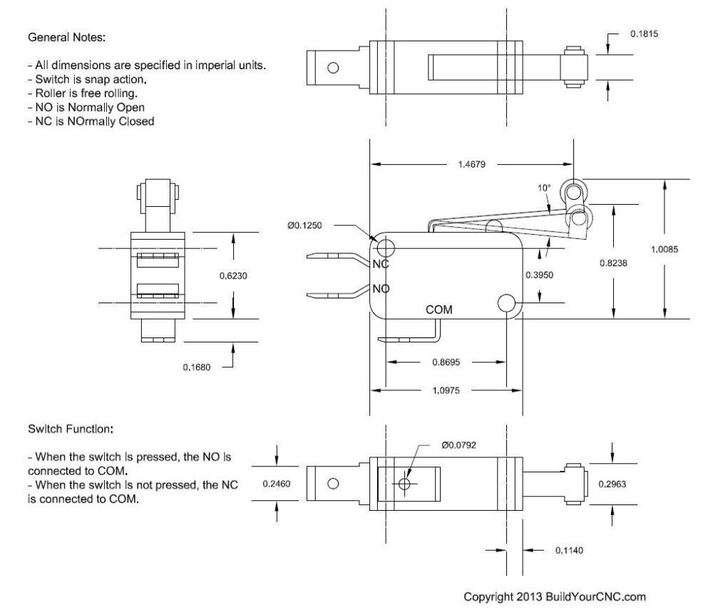 medium resolution of here is a datasheet that we drafted for the limit switch this datasheet can be used to determine mounting specifications understand the throw of the