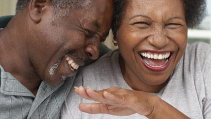 Joy-filled couple
