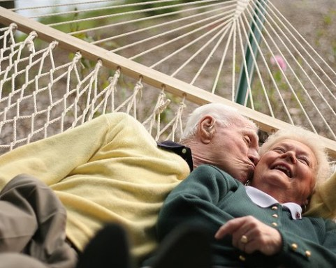Romantic Older Married Couple