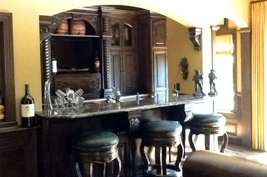 Custom interior design by Indianapolis custom home builders from Rick Hamilton Homes