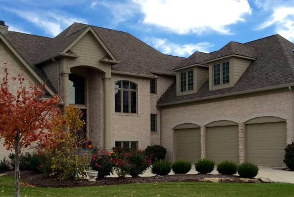 Custom exterior elevation by Indianapolis custom home builders at Hamilton Homes