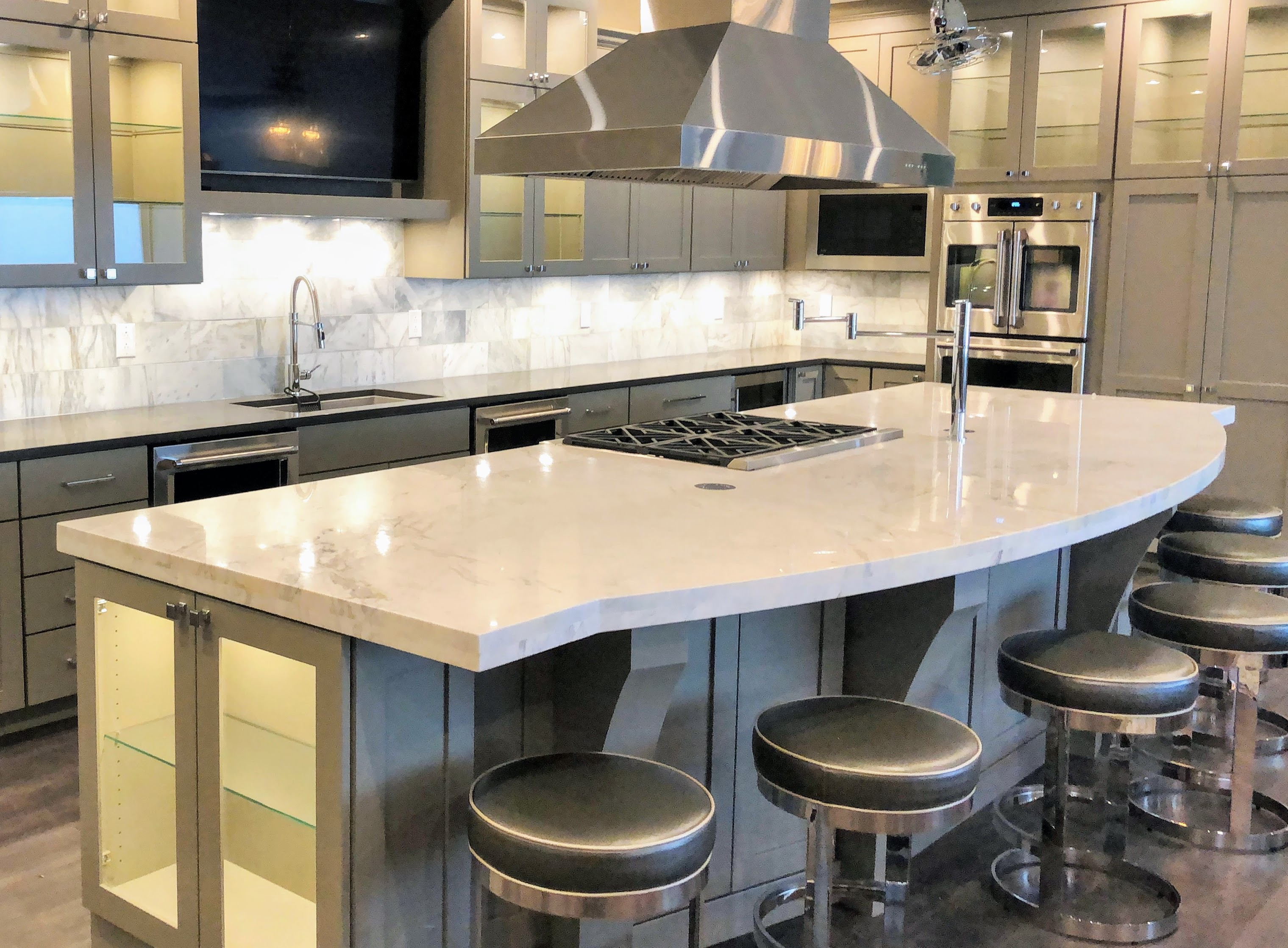 Kitchen Cabinetry with Glass - Kitchen Remodel - Built By You