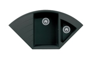 Q4222D ESI Quartz Composite Corner Hybrid Mounting Kitchen Sink