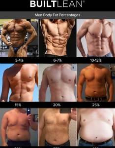 Body fat also percentage photos of men  women builtlean rh