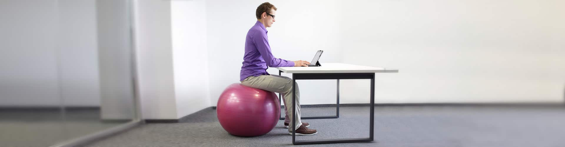office ball chair benefits old wooden barrel chairs or stability ball: what's better to sit on at work? - builtlean