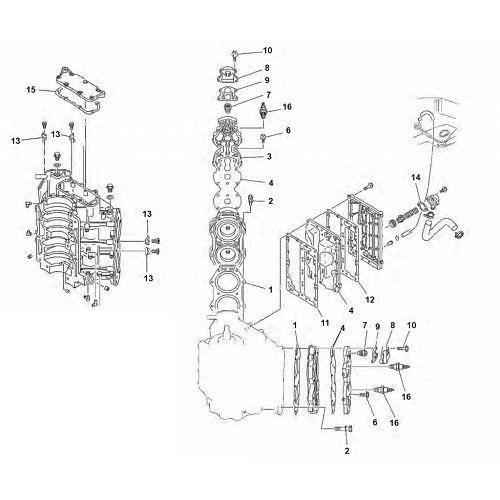 Blok Onderdelen 2-Takt Yamaha buitenboordmotor kopen?