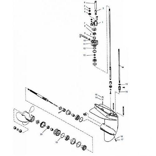 Staartstuk Onderdelen Mercury (2-takt) buitenboordmotor kopen?