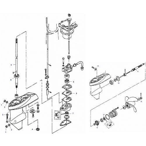 Mariner Staartstuk Onderdelen (2-Takt) buitenboordmotor kopen?