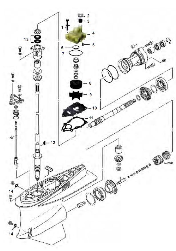 Staartstuk onderdelen VZ200 VZ225 VZ250 & VZ300 Yamaha kopen?