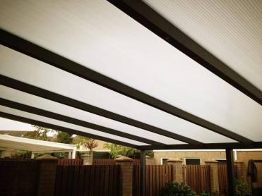 veranda systemen PIAZZA polycarbonaat 5,5 meter uitval