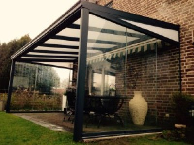 veranda met polycarbonaat