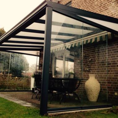 Onze veranda met polycarbonaat in Duitsland