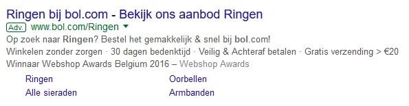 Wat is Google Adwords - voorbeeld advertentie  | Buitengewoon Communicatie in Averbode