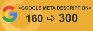 Google Meta description naar 300 tekens