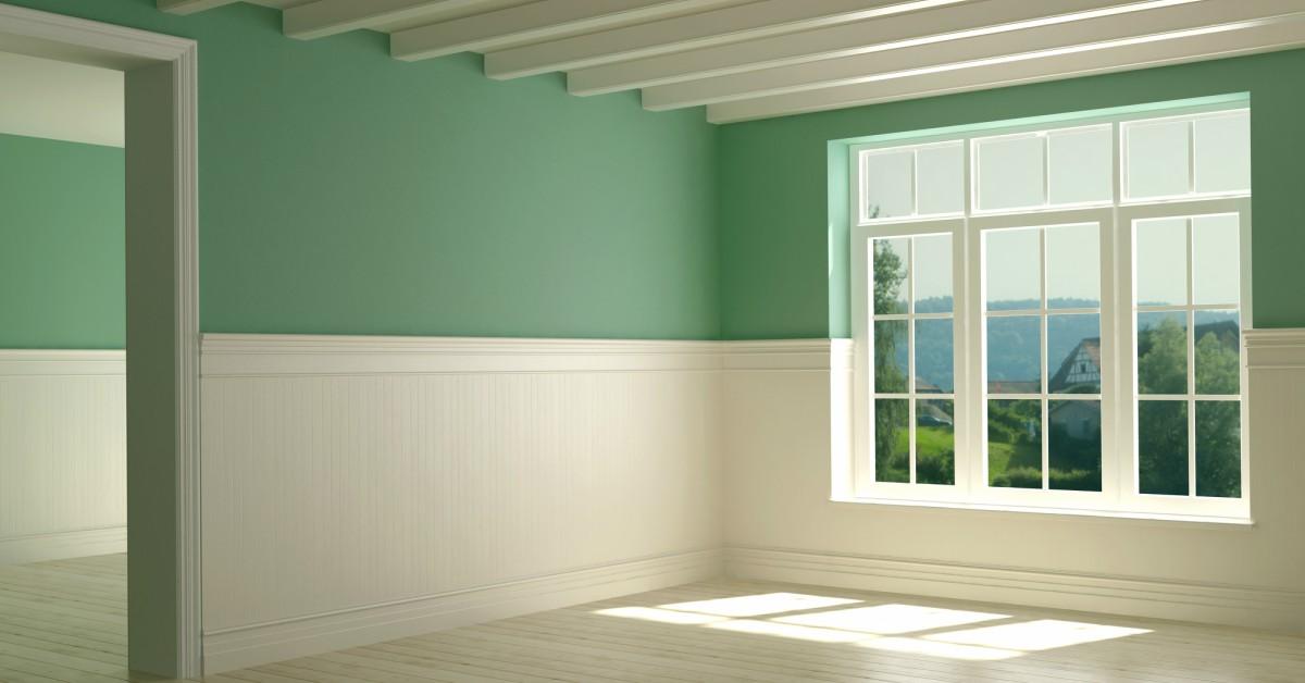 Die Saaie Witte Muur In De Kamer Beu Ga Een Lambrisering