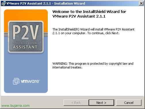 Virtualizar equipos físicos con VMware P2V – VMware Physical to Virtual Assistant