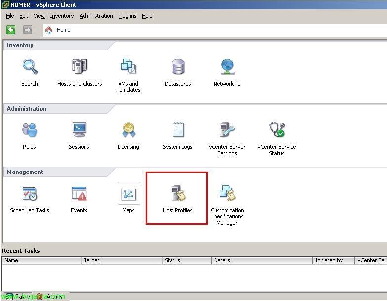 Uso de Host Profile en VMware vSphere