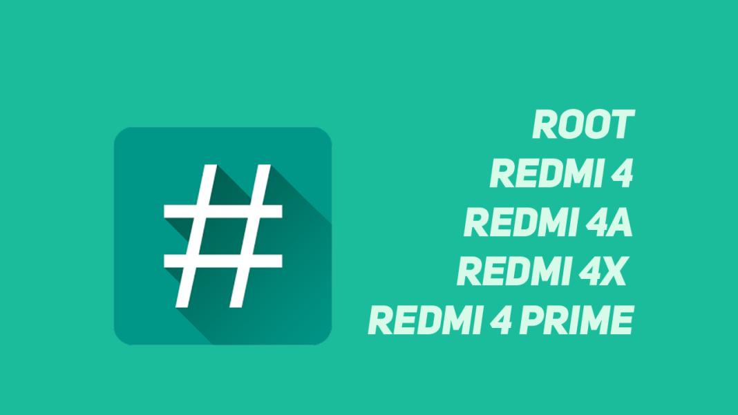 Cara Mudah Root Xiaomi Redmi 4, 4a, 4X,4 Prime tanpa PC