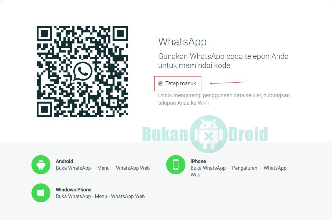Cara Login Whatsapp Lewat Web Tanpa Diminta Scan Barcode