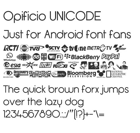 Kumpulan Font MIUI Xiaomi Support Unicode Mtz Terbaru, Keren