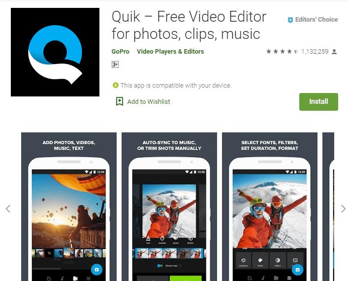 Quick – Free Video Editor