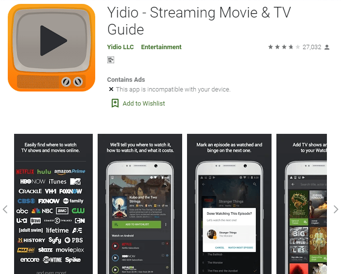 Yidio - Streaming Movie & TV Guide