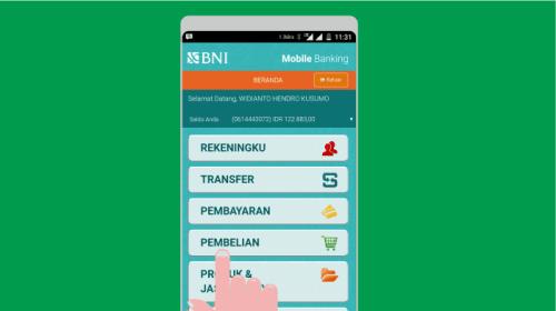 Melihat Saldo Dari BNI Mobile Banking