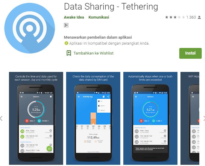Data Sharing – Tethering