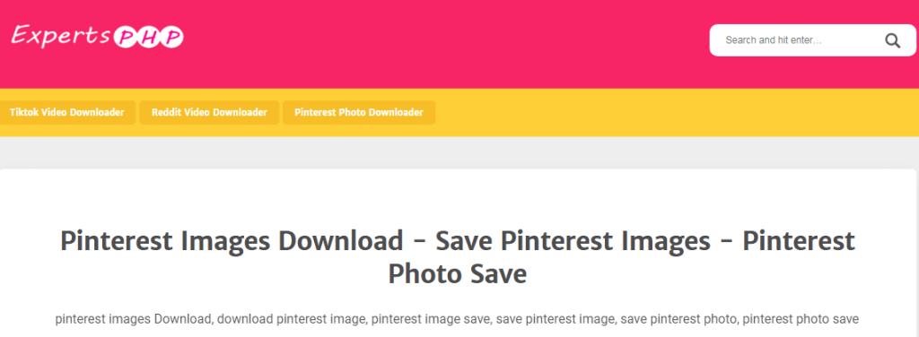 Download foto di Pinterest lewat situs image downloader