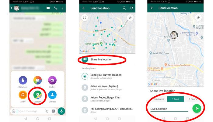 Lacak Lokasi Nomor WhatsApp Lewat Aplikasi WhatsApp
