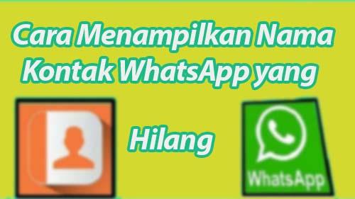 Cara Menampilkan Nama Kontak WhatsApp yang Hilang