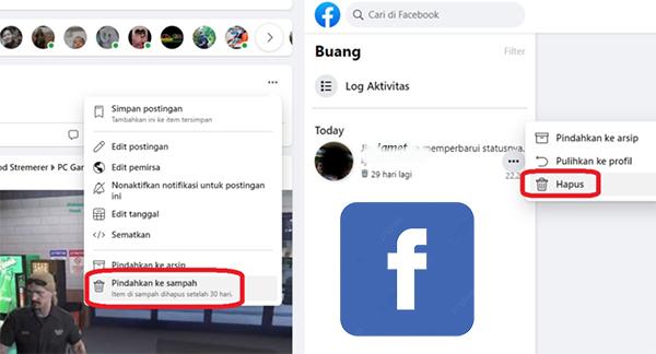 Cara Ampuh Hapus Semua Status Facebook Secara Bersamaan