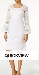 macy's white dress