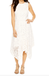 jcp white lace dress
