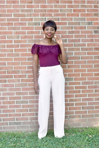 How to style wide legs pant in summer graphic