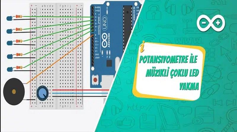 Arduino Potansiyometre ile Müzikli Led Yakma