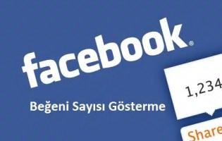 Facebook Beğen Sayısı Bulma