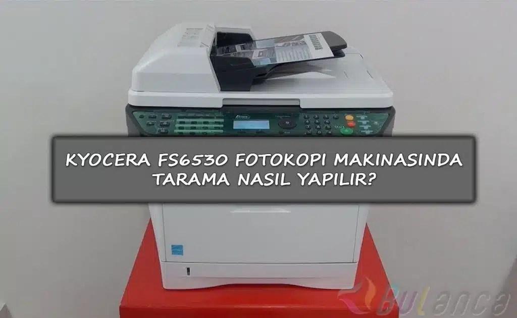 Fatih Projesi Fotokopi Makinesinden USB Belleğe Tarama Yapma