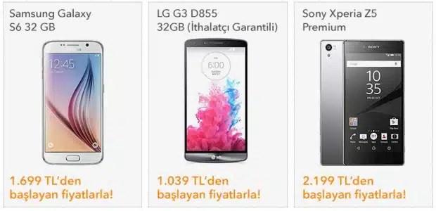 akıllı telefon fiyatları