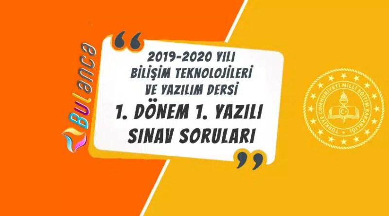 bty dersi 2019-2020 1 yazılı