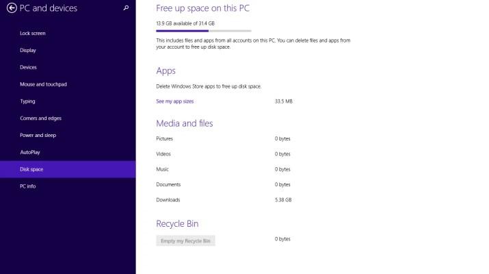 windows 8.1 ayarlar