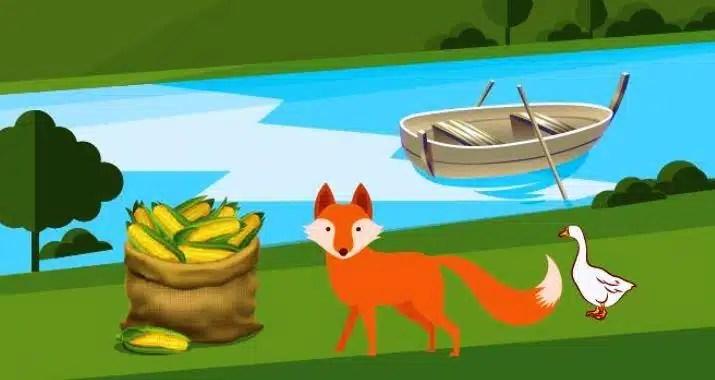 Tilki, Kaz ve Mısır Çuvalı