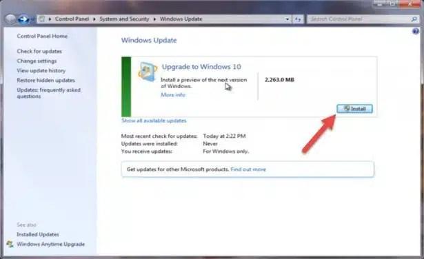 Windows 10 Yükseltme