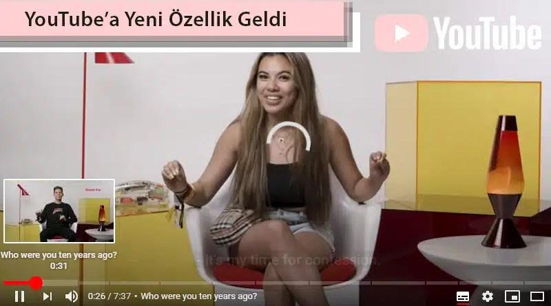 youtube yeni özellik