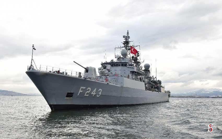 TCG YILDIRIM (F-243) Gemisi Ordu'da