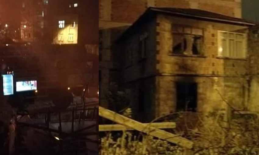 Bulancak'ta ev yangını