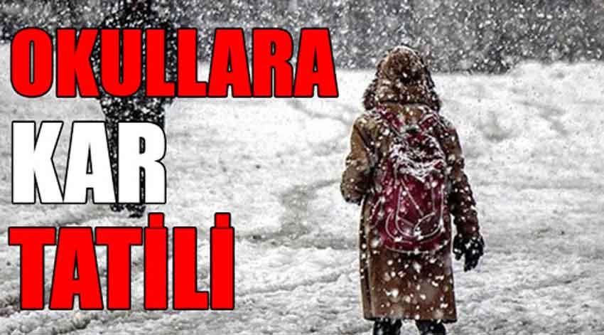 Giresun'da, Yarın Okullar Kar Yağışı Nedeniyle Tatil