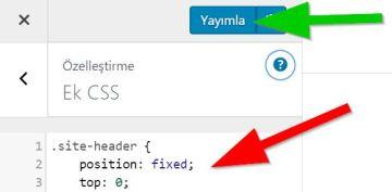 CSS ile yapışkan menü